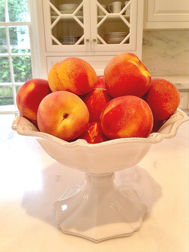 Fresh Peaches Gluten free muffins