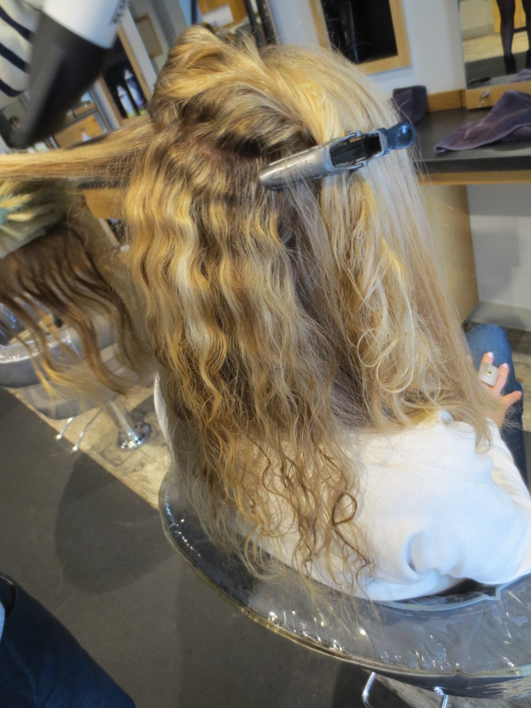 sectioning my curls
