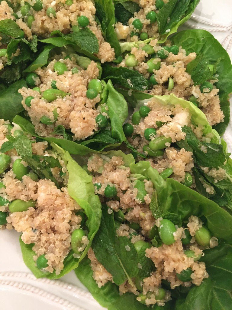 Quinoa Edamame Lettuce Wraps, Quinoa, recipe, Dallas, Blogger, Meatless Monday, Lettuce Wraps, Cool Summer Recipes, Cool Recipes for Summer