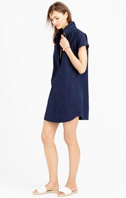 Navy dress shirt dress