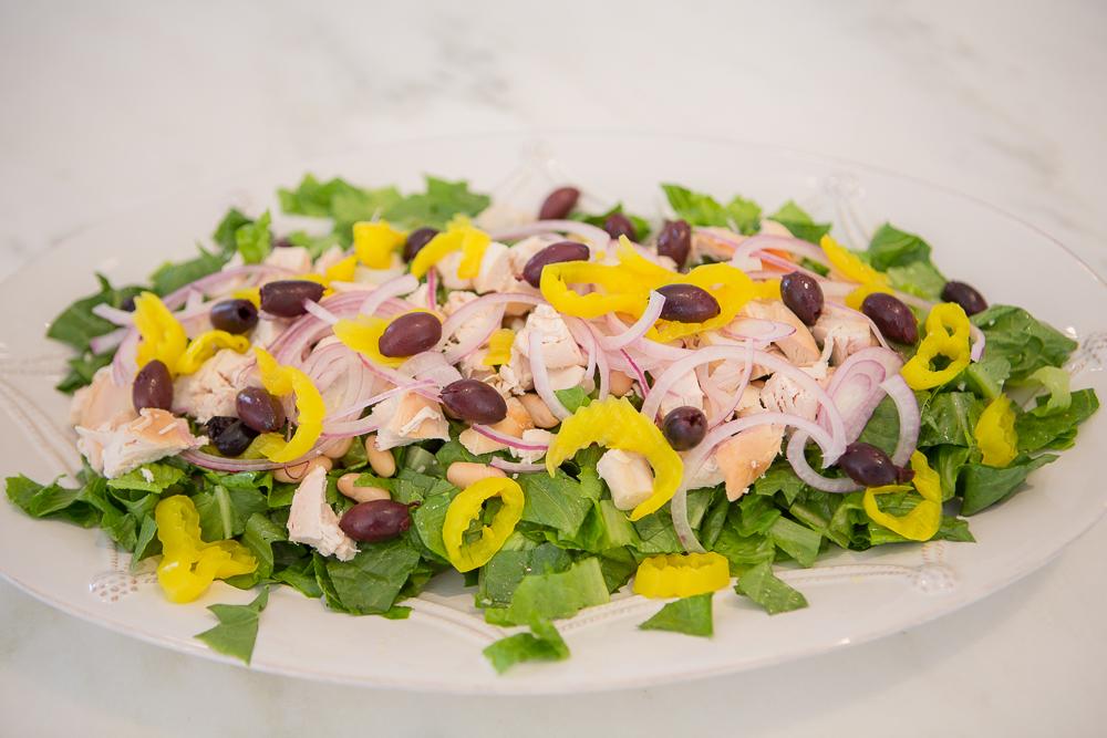 Mediterranean Salad with Roasted Chicken