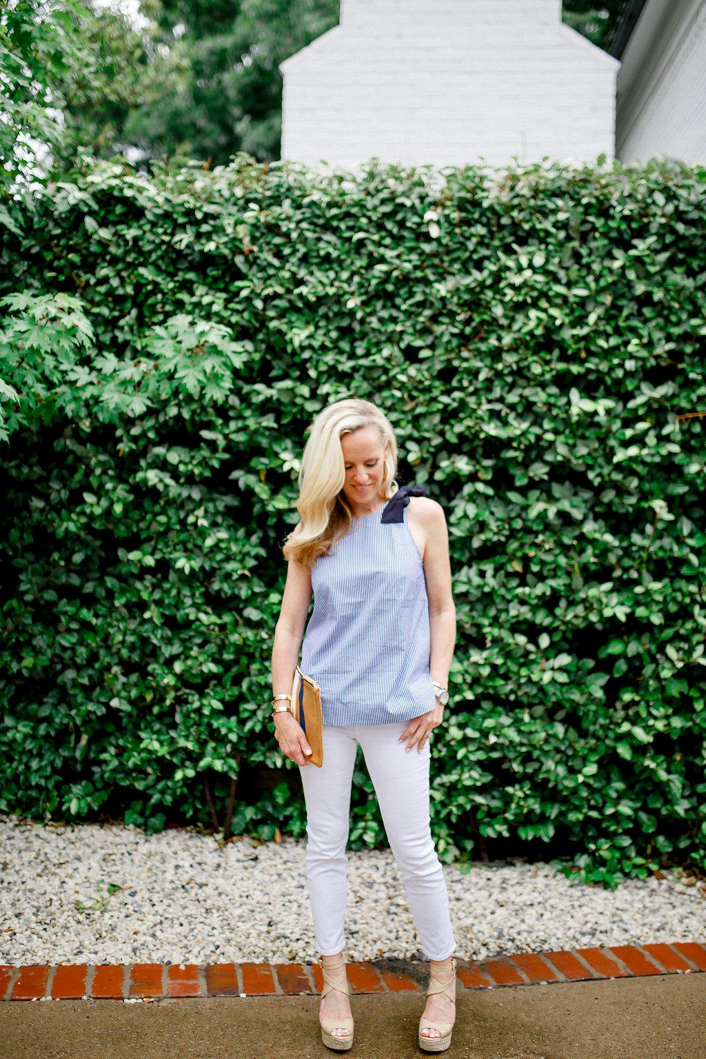 Alicia Wood, Dallas Fashion Blogger, Best Petite Jean, Best Petite Cropped Jean, Petite Skinny Jean, J.Crew Toothpick Jean, J.Crew Skinny Jean, J.Crew White Jean