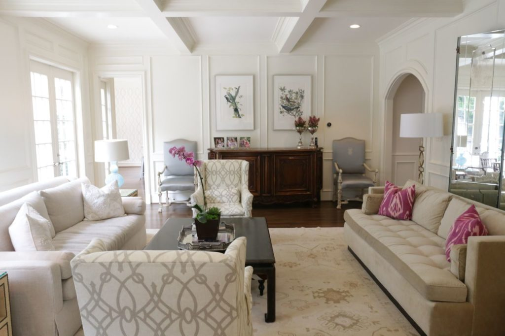 Home Tour, Bloggers at Home, Family room, Dallas Home Tour, Oushak rug