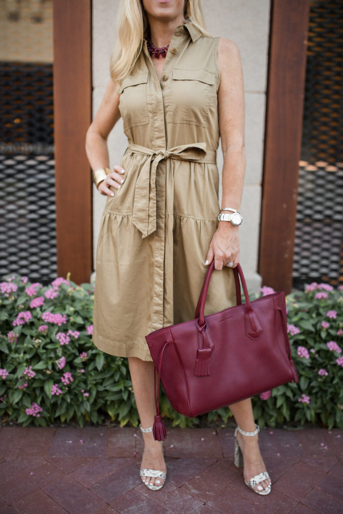 J Crew Tiered Fatigue Shirtdress, Khaki Shirtdress, Dallas Fashion Blogger