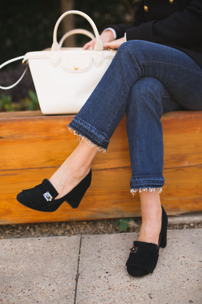 Gucci Knockoff Loafers, Sarto Ainsley Loafer, Classic Black Loafer, Longchamp Le Pliage Heritage Ecru