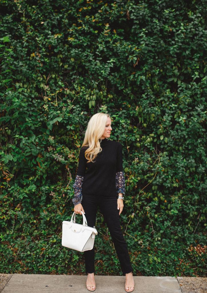 Alicia Wood, Dallas Fashion Blogger, Dallas Lifestyle Blogger, Dallas Style Blogger, Neiman Marcus Denim Event, Frame Denim, Fall Florals