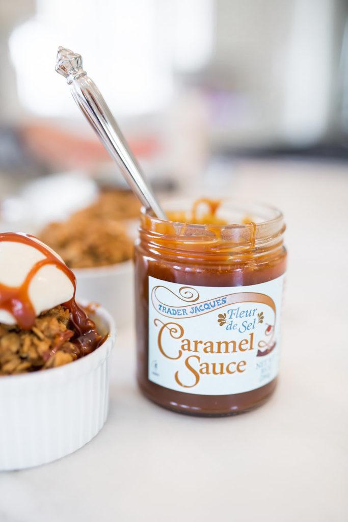 Trader Joe's Caramel Sauce, Trader Joe's Fleur de Sel Caramel Sauce, Gluten Free Fall Dessert,