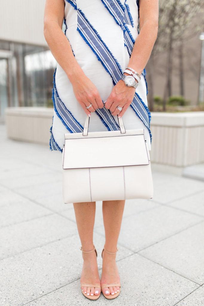 Tory Burch White Handbag, Tory Burch T Block Top Handle Satchel, Neiman Marcus Sale