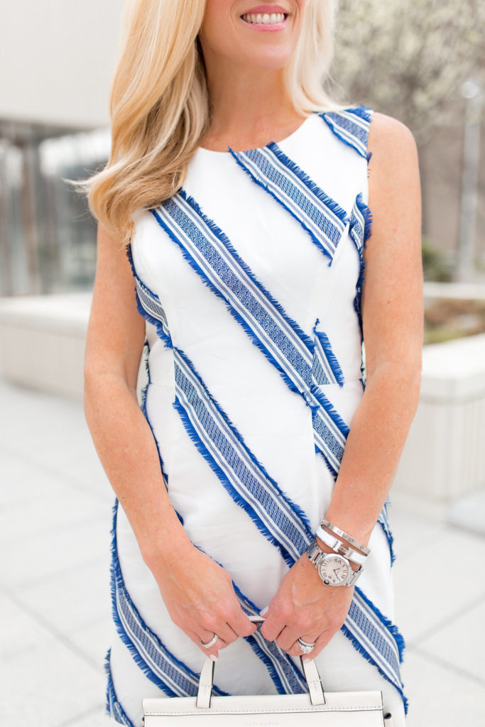 Blue and white Stripe Dress, Milly Dress, Milly Blue and White Stripe Dress