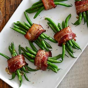 Brown Sugar and Bacon Green Bean Bundles