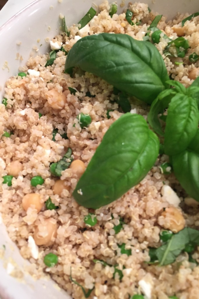 White Bean Basil Quinoa Salad