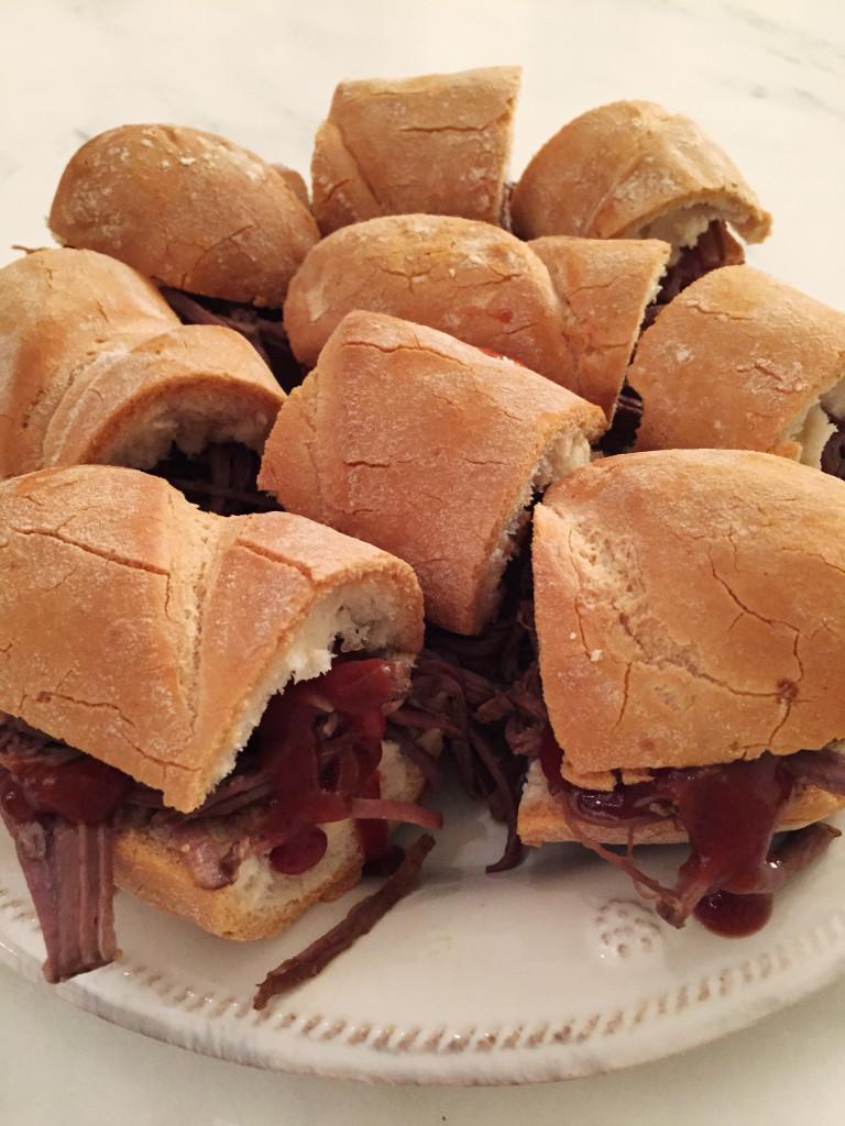 Brisket sandwiches