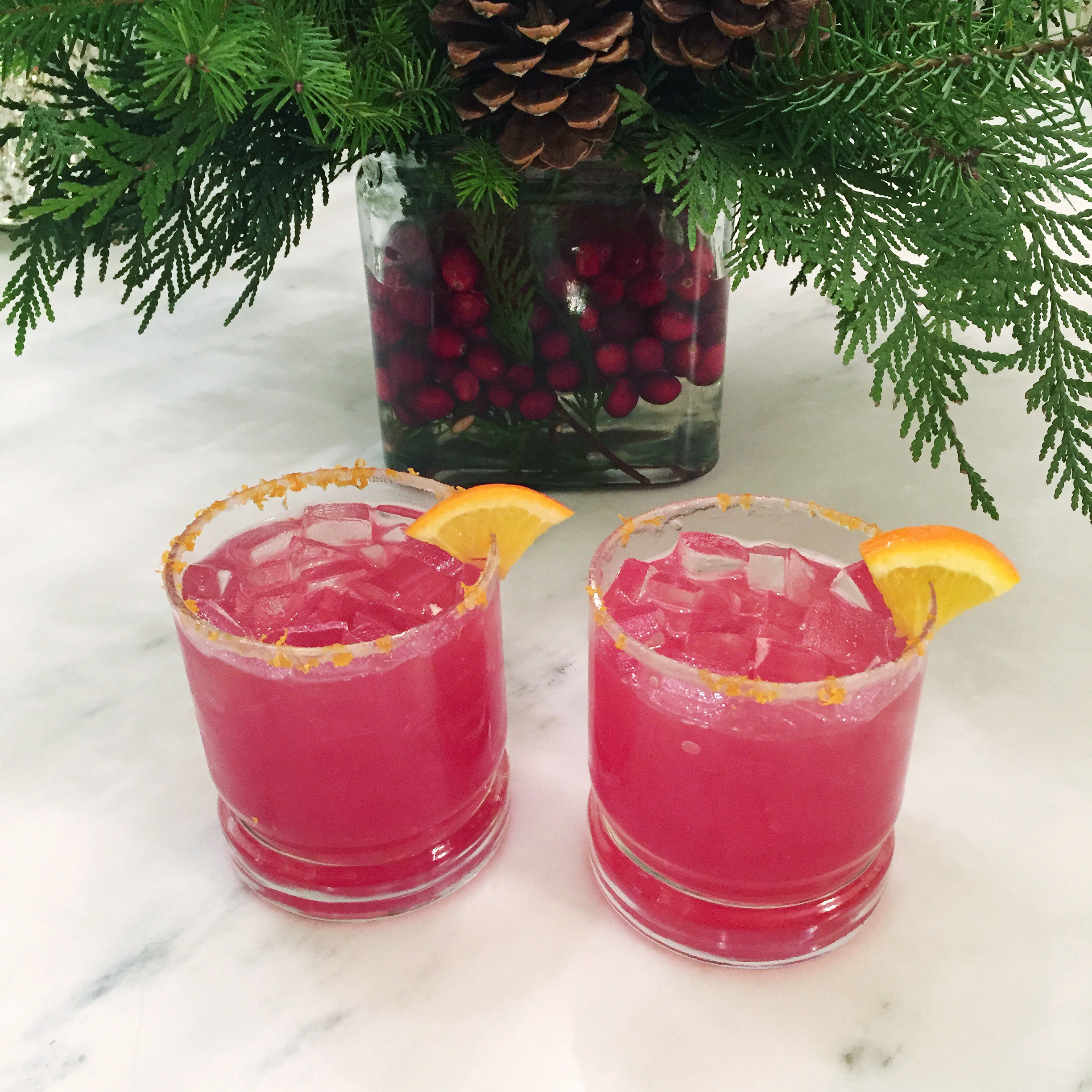 Cranberry Orange Margarita & Christmas Menus