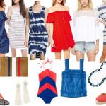 What to wear on $th of July, What to wear July 4th, Red white and Blue Dresses, Red off the shoulder Dress, Striped dress, White tassel earrings, Clare V. Clutch, Dallas Fashion Blogger, Dallas Lifestyle Blogger