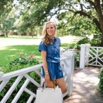 Dallas Fashion Blogger, Alicia Wood, Denim romper, denim jumper, One piece dressing, one piece outfit, chambray romper, Dallas Lifestyle Blogger, Dallas Food Blogger, Short sleeve utility romper