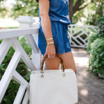 White Handbag, Mark and Graham Bamboo Handle bag, Mark and Graham Elisabetta Slouch Bag, Fashion Blogger, Dallas Lifestyle Blogger