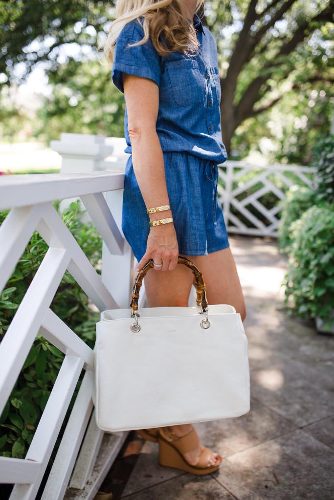 White Handbag, Mark and Graham Bamboo Handle bag, Mark and Graham Elisabetta Slouch Bag, Fashion Blogger, Dallas Lifestyle Blogger