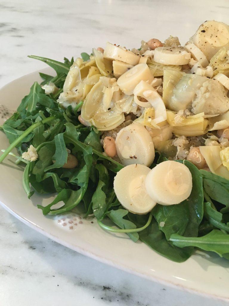 Artichoke and Hearts of Palm Salad, Quinoa Salad, Marinated Artichokes, Hearts of Palm, Trader Joe's Recipe, Dallas Food Blog, Dallas Lifestyle Blog