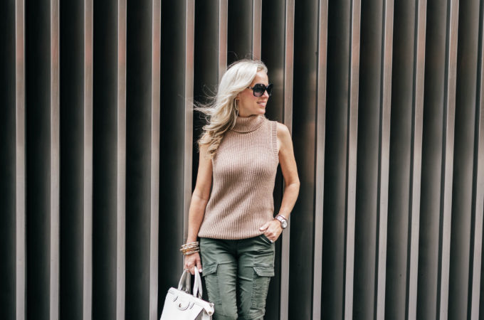 NYFW, Alicia Wood, Dallas Fashion Blogger, Dallas Lifestyle Blogger, J Brand HOULIHAN MID RISE CARGO Pant, Longchamp Heritage Tote,