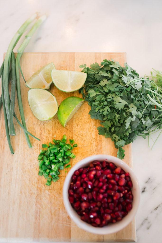 Pomegranate Recipe, Guacamole with Pomegranate Seeds, Pomegranate Guacamole, Fall Appetizer