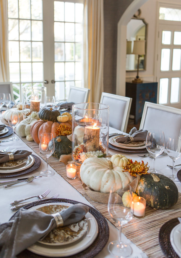 Elegant Thanksgiving Table Decor, Easy Thanksgiving Table Decor, Simple Thanksgiving Table, White Dining Room