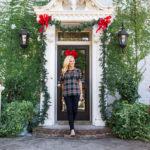 Alicia Wood, Dallas Fashion Blogger, Dallas Lifestyle Blogger, Dallas Fashion Blog, Dallas Lifestyle Blog, J.Crew Edie top in Stewart plaid, Plaid ruffle top, How to Style Jeans for a Holiday Party
