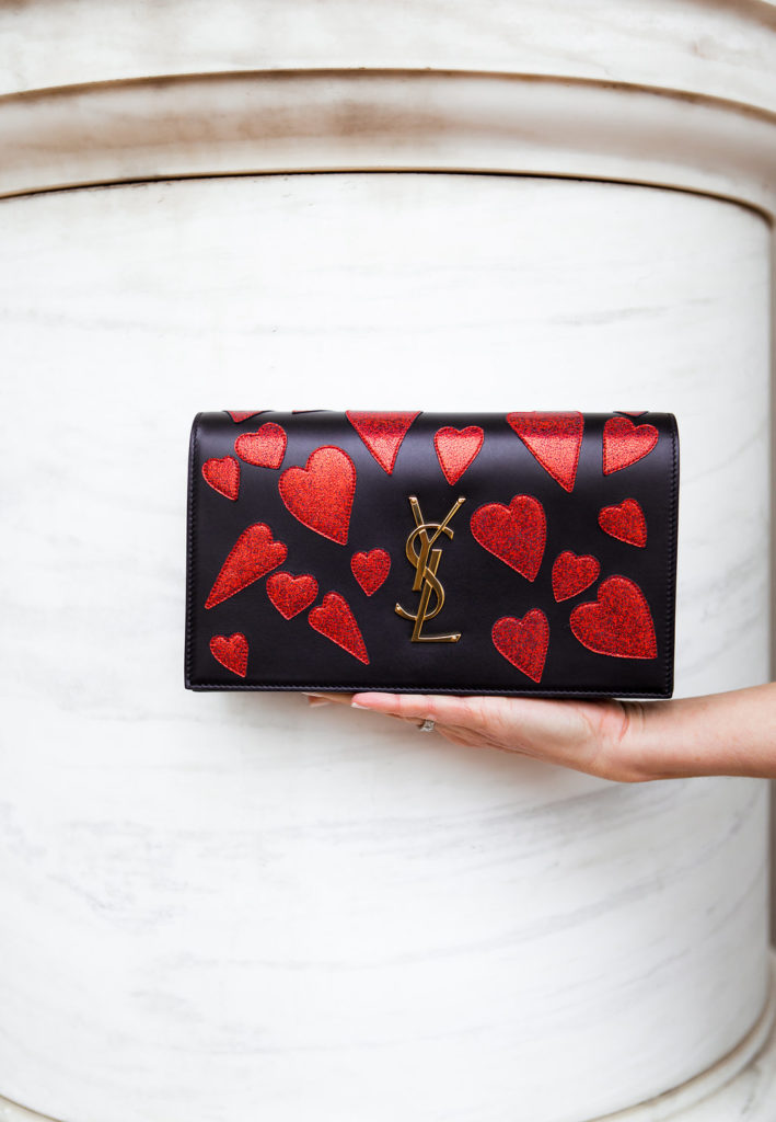 YSL Heart Patch Clutch, Celebrate Valentine's Day with a gift