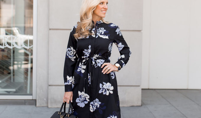 Floral Shirt Dress | Classic Pieces for Spring Transition