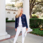 Alicia Wood, Dallas Lifestyle Blogger, Dallas Fashion Blog, J.Crew Lady Jacket with Liberty Trim, White Perforated Clutch