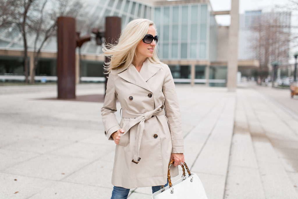 Perfect Trench Coat, Double-Breasted Belted Trench, Alicia Wood, Dallas Fashion Blogger