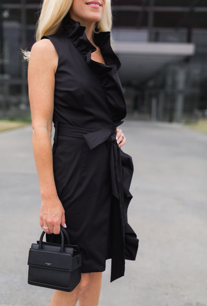Milly Ruffle Dress, Milly black Wrap dress, Givenchy Mini Satchel