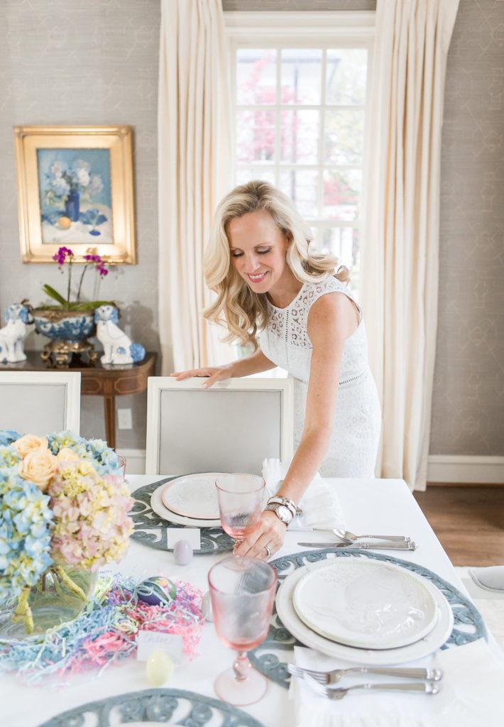 Alicia Wood, Dallas Lifestyle Blogger, Dallas Lifestyle Blog, Elegant Easter Table, Lilly Pulitzer Simona Dress