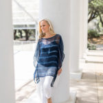 Alicia Wood, Dallas Lifestyle Blogger, W by Worth Blue Stripe Poncho