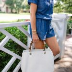 Alicia Wood, Dallas Lifestyle Blogger, Mark and Graham Elisabetta Slouch Bag with Bamboo Handles, White handbag with bamboo handles,
