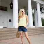 Alicia Wood, Dallas Lifestyle Blogger, Dallas Fashion Blogger, Crosby Maria Tank, Cult Gaia Ark Bag, Citizen denim shorts