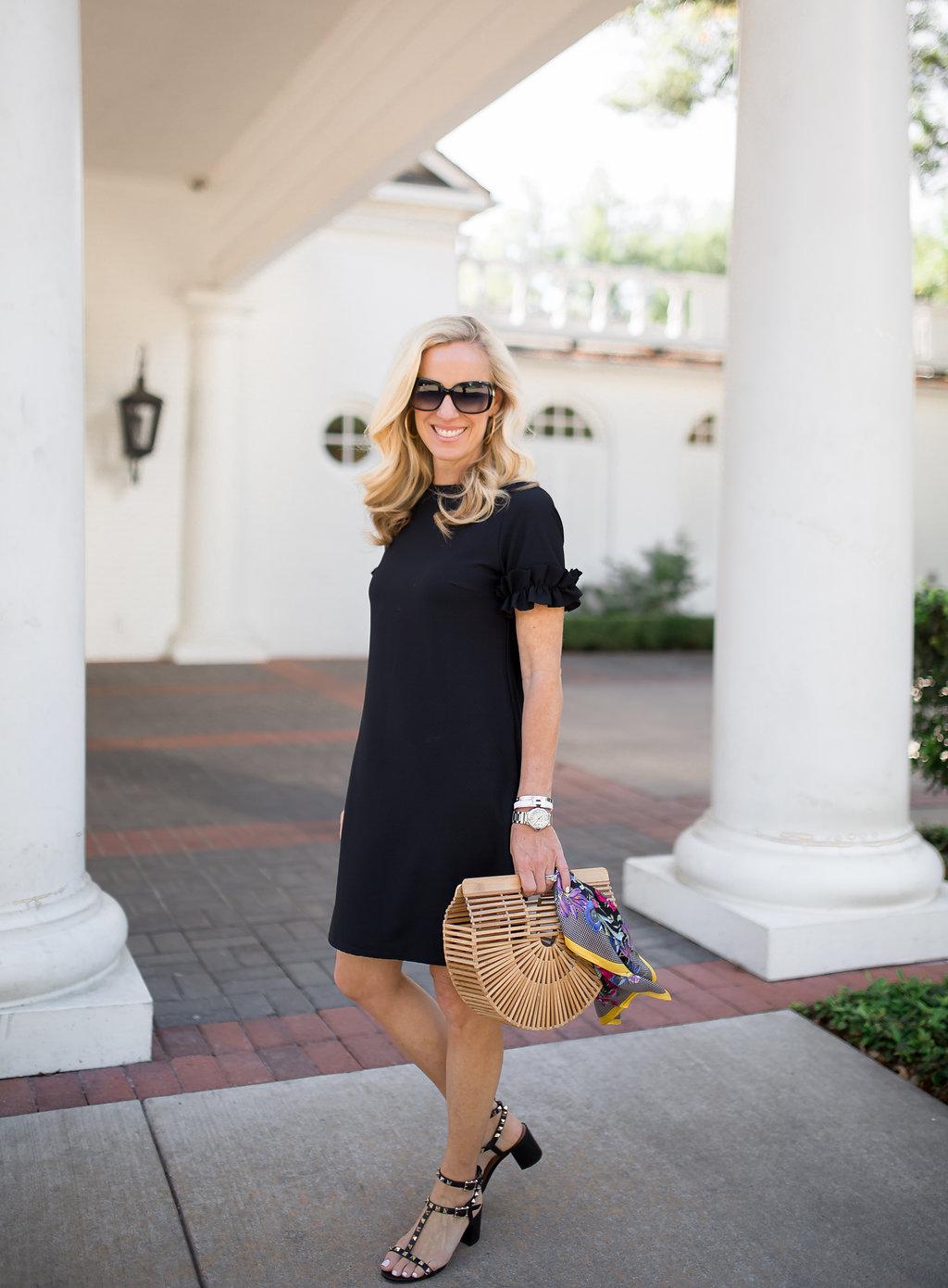 Alicia Wood, Dallas Lifestyle Blogger, Dallas Fashion Blogger, Dallas Lifestyle Expert, LBD for Spring, Cult Gaia Ark Bag
