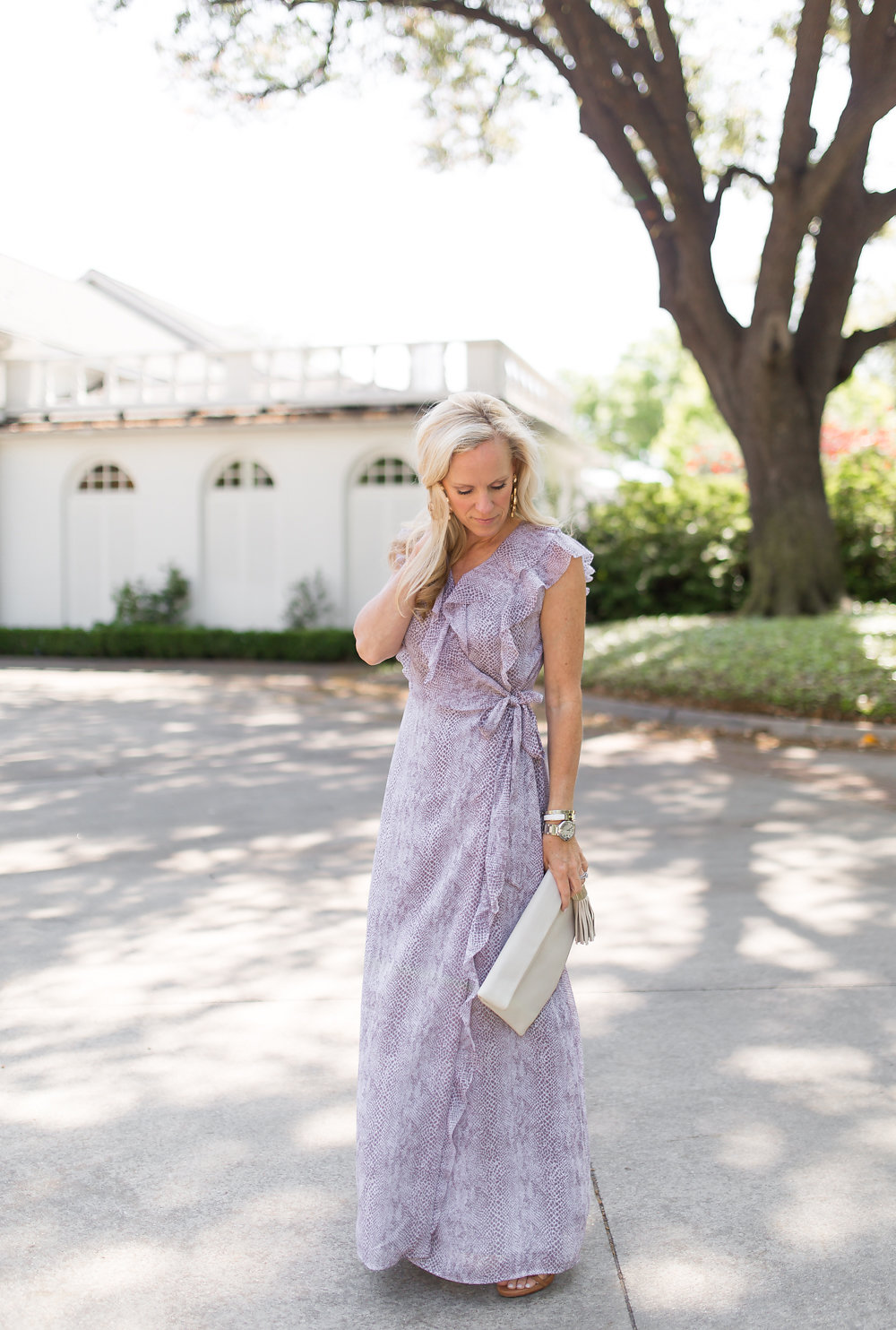 what to wear to a summer wedding chiffon ruffle maxi dress