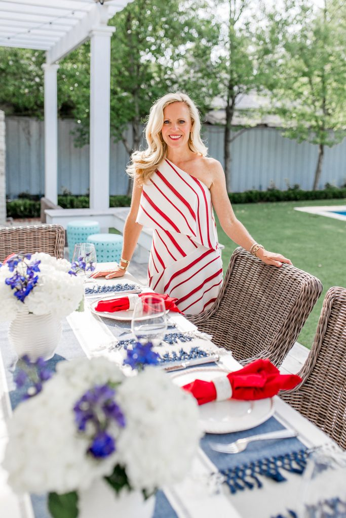 Patriotic Tablescape | Setting the Table for July 4th