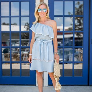 Alicia Wood, Dallas Lifestyle blogger, Dallas Fashion Blogger, Saylor Haney Dress, Sophia Webster Lucita Wedge