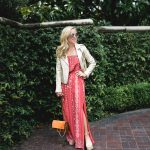 Alicia Wood, Dallas Lifestyle Blogger, Dallas Fashion Blogger, Joie Gold Leather Jacket, Joie Terracotta Maxi Dress, New Chloe Faye Bag, Chloe Espadrilles