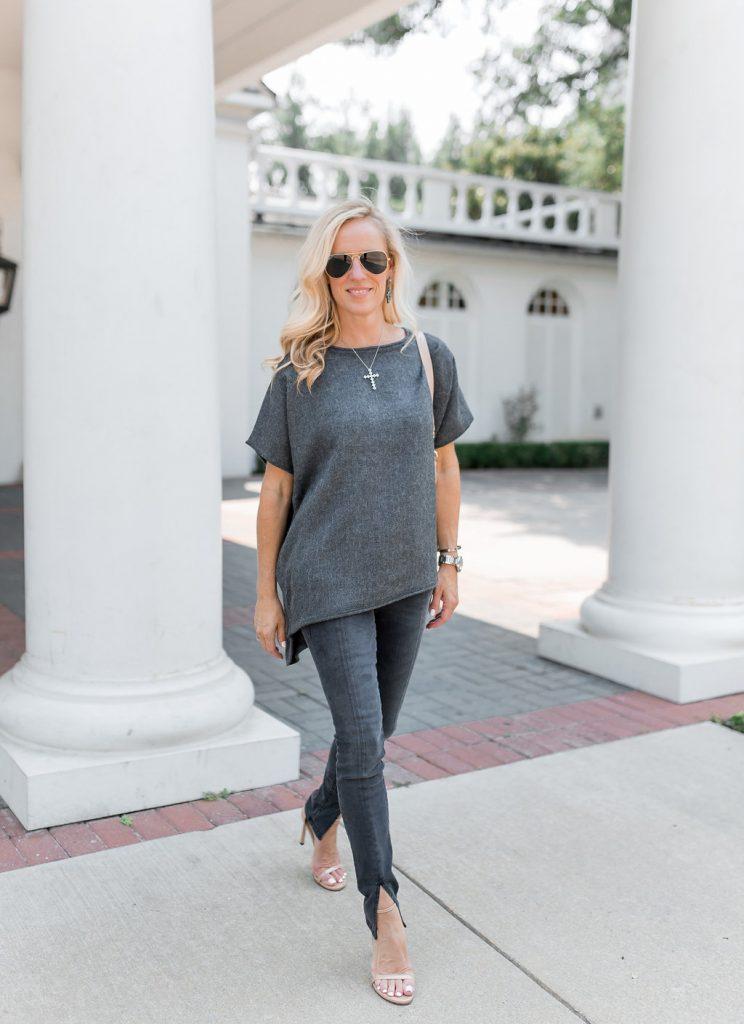 Alicia Wood, Dallas Fashion Blogger, Cuyana Hobo, Alpaca Sweater, Frame Le Skinny De Jeanne