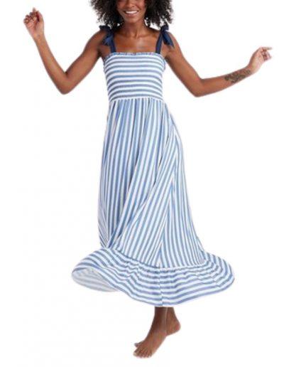 Summersalt Blue & White Striped Dress
