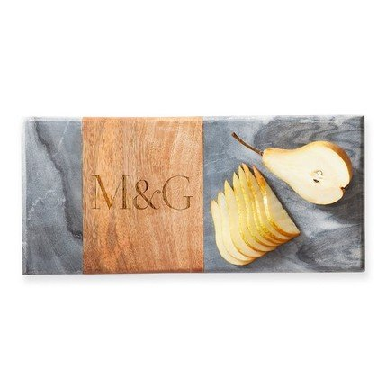 Wood and Marble Rectangle Cheese Board
