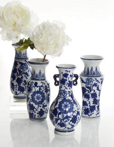 Handpainted Chinese Bud Vases
