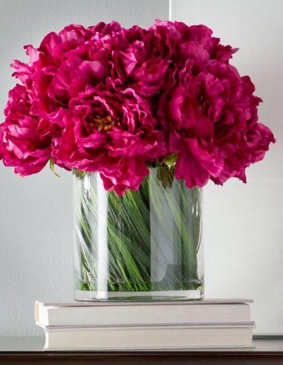 Magenta Peony Floral Arrangement In Vase