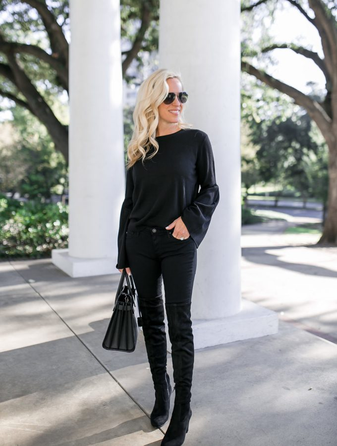 Alicia Wood, Dallas Lifestyle Blogger, Dallas Fashion Blogger, Ivanka Trump Collection at Bloomingdales, Black Over The Knee Boots