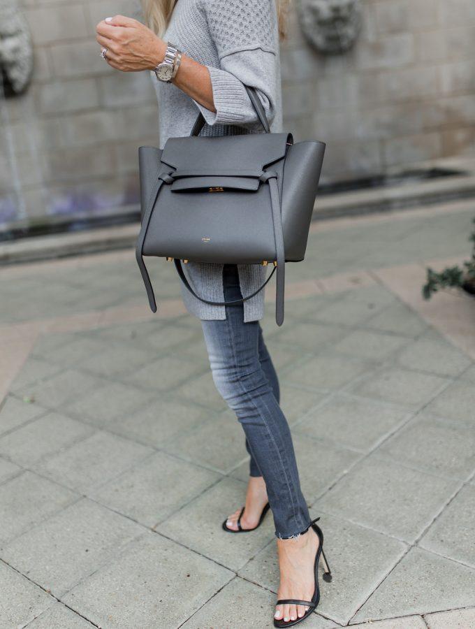 Gray Celine Belt Bag, Pantone Neutral Gray