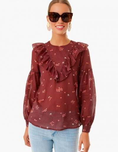 Tuckernuck Maroon Top-Alicia Wood Lifestyle Fall Style