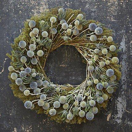 Preserved Sweet Annie + Echinops Wreath
