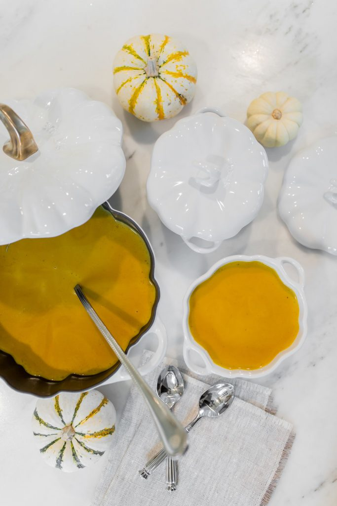 Alicia Wood, Dallas Lifestyle Blogger, Dallas Fashion blog, Williams-Sonoma recipe, Staub Cast-Iron Pumpkin Cocotte, Staub Ceramic Cocotte, Creamy Pumpkin Soup Recipe